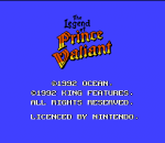 Legend of Prince Valiant, The title screenshot