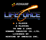 Life Force title screenshot