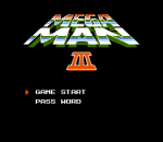 Mega Man 3 title screenshot