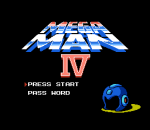 Mega Man 4 title screenshot