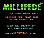 Millipede title screenshot