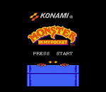 Monster in My Pocket title screenshot