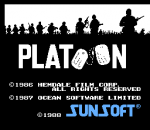 Platoon title screenshot