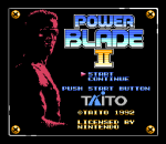 Power Blade 2 title screenshot