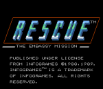 Rescue - The Embassy Mission title screenshot