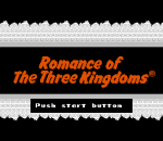 Romance of the Three Kingdoms title screenshot
