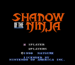 Shadow of the Ninja - Blue Shadow title screenshot