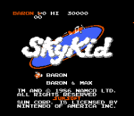 Sky Kid title screenshot