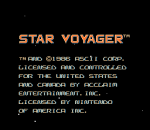 Star Voyager title screenshot