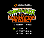 Teenage Mutant Ninja Turtles III - The Manhattan Project title screenshot