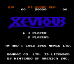 Xevious - The Avenger title screenshot