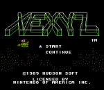 Xexyz title screenshot