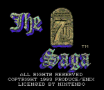 7th Saga, The title screenshot