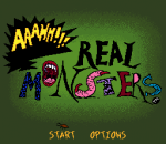 Aaahh!!! Real Monsters title screenshot