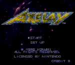 Axelay title screenshot
