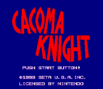 Cacoma Knight in Bizyland title screenshot