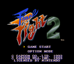 Final Fight 2 title screenshot