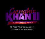Genghis Khan II - Clan of the Gray Wolf title screenshot