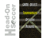Head-On Soccer title screenshot