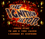 Ignition Factor, The title screenshot