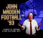 John Madden Football '93 title screenshot