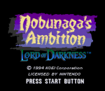 Nobunaga's Ambition - Lord of Darkness title screenshot