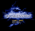 Mary Shelley's Frankenstein title screenshot