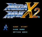 Mega Man X2 title screenshot