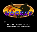 Pro Sport Hockey title screenshot
