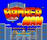 Super Bomberman title screenshot