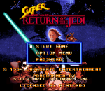 Super Star Wars - Return of the Jedi title screenshot