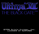 Ultima VII - The Black Gate title screenshot