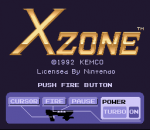 X Zone title screenshot