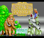 Space Harrier title screenshot