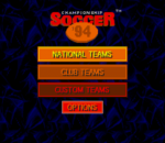 Championship Soccer '94 title screenshot
