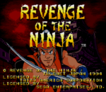 Revenge of the Ninja title screenshot