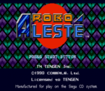 Robo Aleste title screenshot
