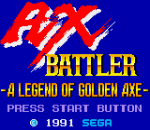 Ax Battler - A Legend of Golden Axe title screenshot