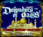 Defenders of Oasis title screenshot