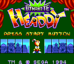 Dynamite Headdy title screenshot