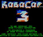 RoboCop 3 title screenshot