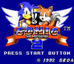 Sonic The Hedgehog 2 title screenshot