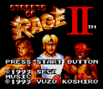 Streets of Rage II title screenshot