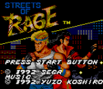 Streets of Rage title screenshot