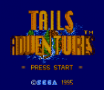 Tails Adventures title screenshot