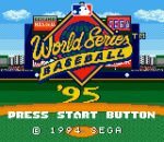 World Series Baseball '95 title screenshot