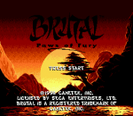 Brutal - Paws of Fury title screenshot