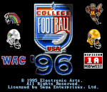 College Football USA 96 title screenshot