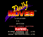 Deadly Moves title screenshot