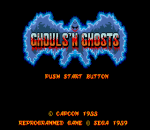 Ghouls 'n Ghosts title screenshot
